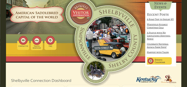 Project of the Week – ShelbyKY CVB Website